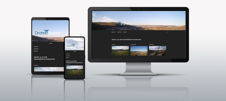 Header Mockup Webauftritt Drohnografie