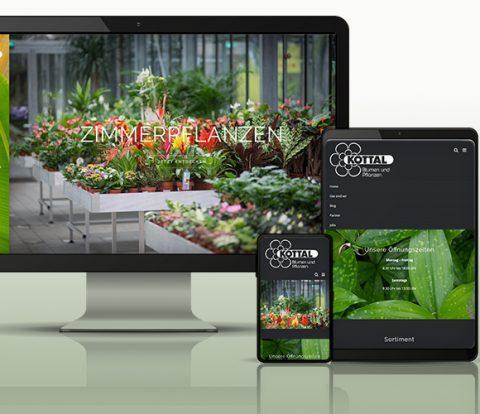 Header Mockup Webauftritt Blumen Kottal