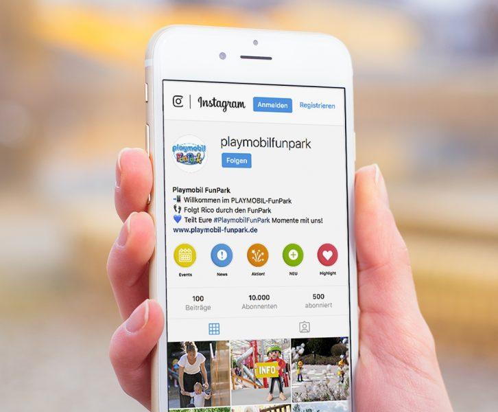 Mockup FunPark Instagramprofil