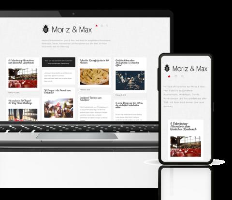 Blog Moriz & Max Mockup