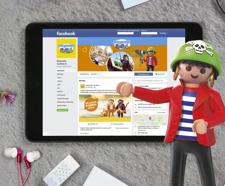 Facebook-Seite des PLAYMOBIL-FunParks